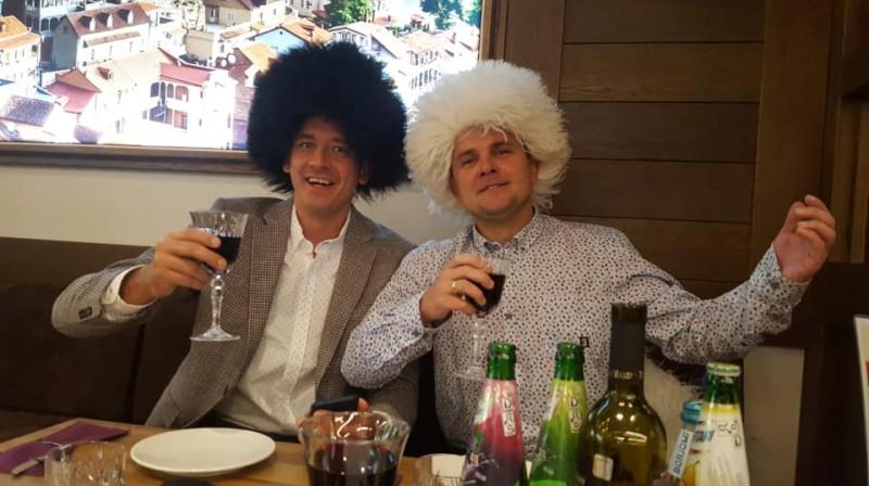 """Kristaps Valters un Jurijs Žigajevs. Foto: """"eXi"""""""