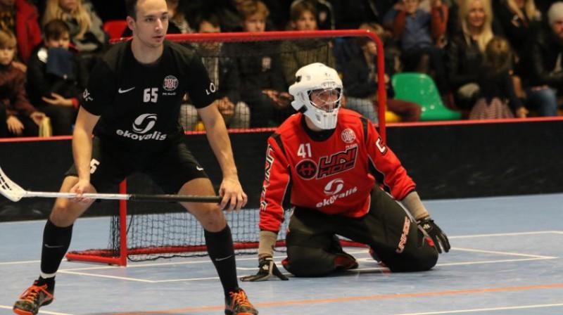 Normunds Krūmiņš (#41) šovakar varētu aizvadīt principiālu spēli pret savu bijušo komandu no Cēsīm Foto: liepajniekiem.lv