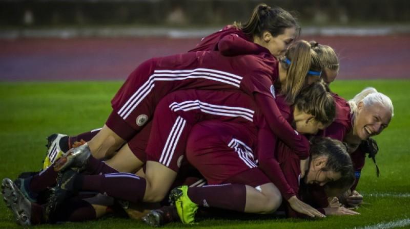 Latvijas sieviešu futbola izlase. Foto: lff.lv