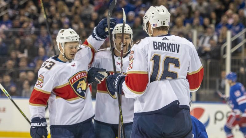 """Floridas """"Panthers"""" hokejisti. Foto: Corey Sipkin/AP/Scanpix"""