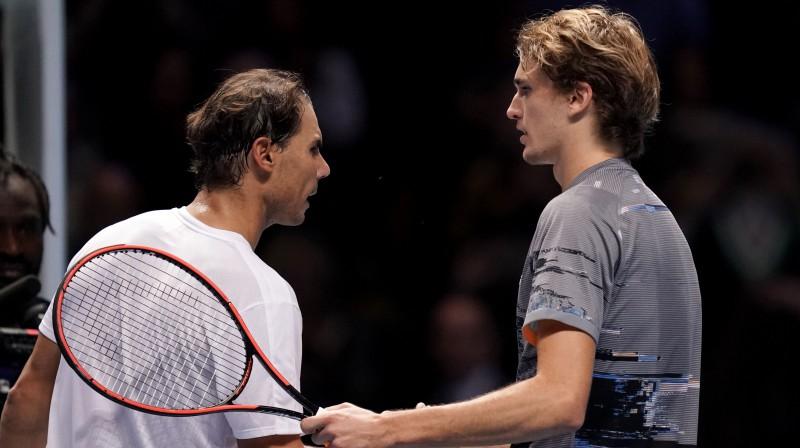 Rafaels Nadals un Aleksandrs Zverevs. Foto: PA Wire/PA Images