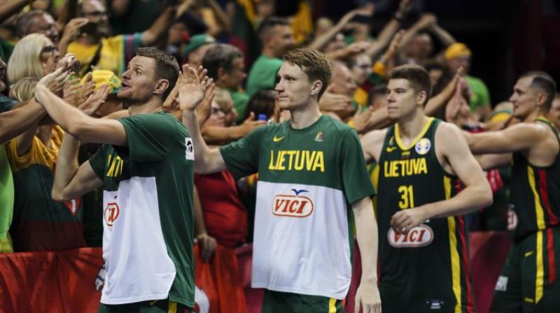 Lietuvas spēlētāji Pasaules kausā. Foto: CHINE NOUVELLE/SIPA/Scanpix