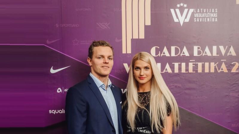 Zigismunds Sirmais un Līna Mūze. Foto: Guntis Bērziņš, athletics.lv