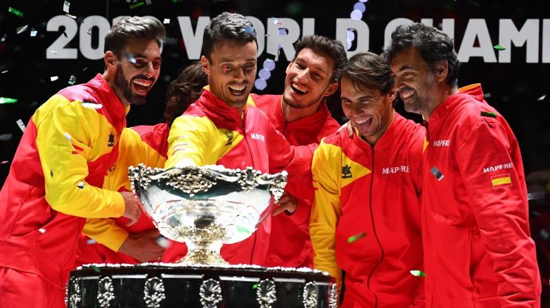 2019. gada Deivisa kausa čempione Spānija. Foto: AFP/Scanpix