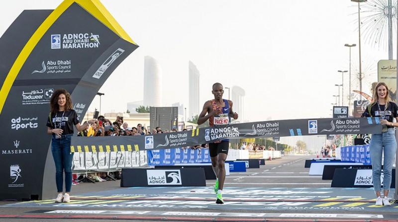 Reubans Kipjego finišē pirmais. Organizatoru foto