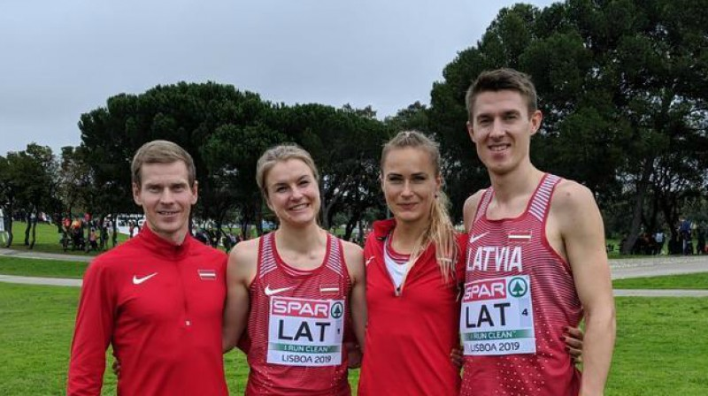 Jānis Razgalis, Agata Strausa, Līga Velvere, Uģis Jocis. Foto: athletics.lv