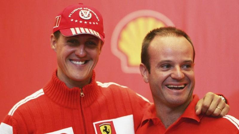 "Šūmahers un Barikello ""Ferari"" laikos. Foto: Scuderia Ferrari"
