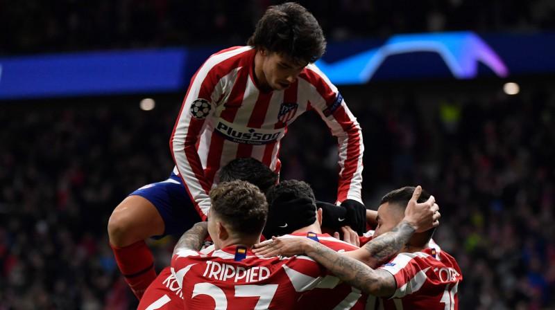 """""""Atletico"""" pēc pirmā vārtu guvuma / Foto: AFP/Scanpix"""