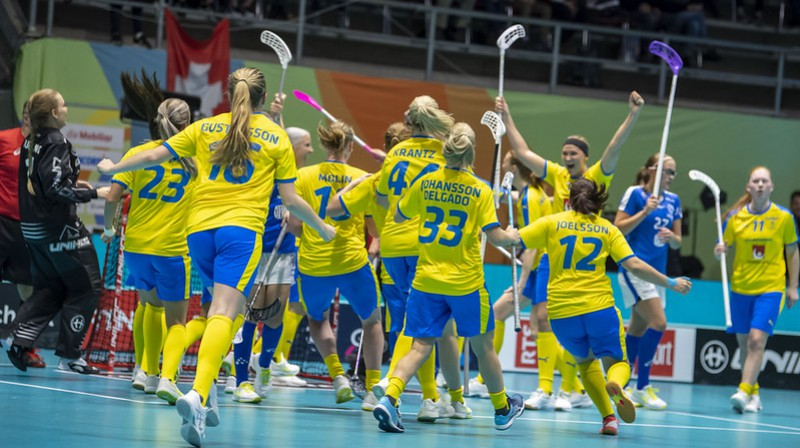 Zviedrijas izlase Foto: IFF Floorball