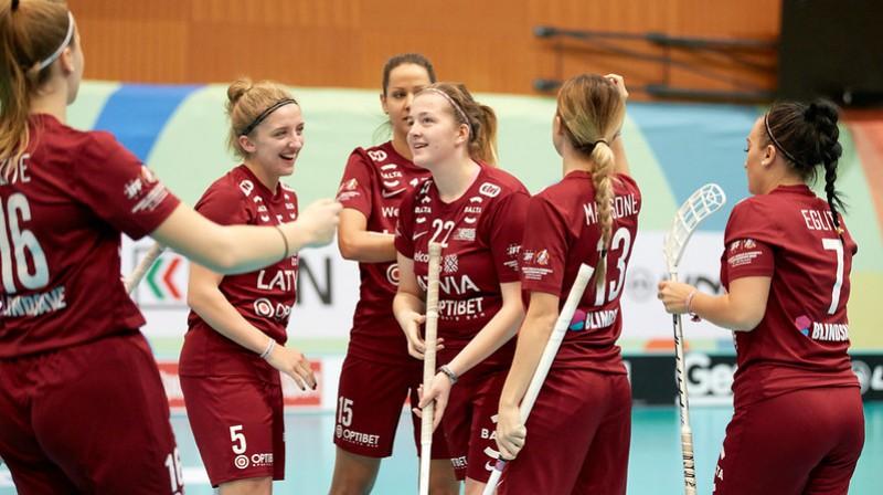 Latvijas izlase Foto: IFF Floorball