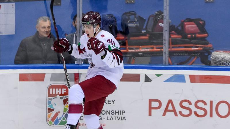 Latvijas U20 izlases rezultatīvākais spēlētājs Jānis Švanenbergs. Foto: LHF.lv