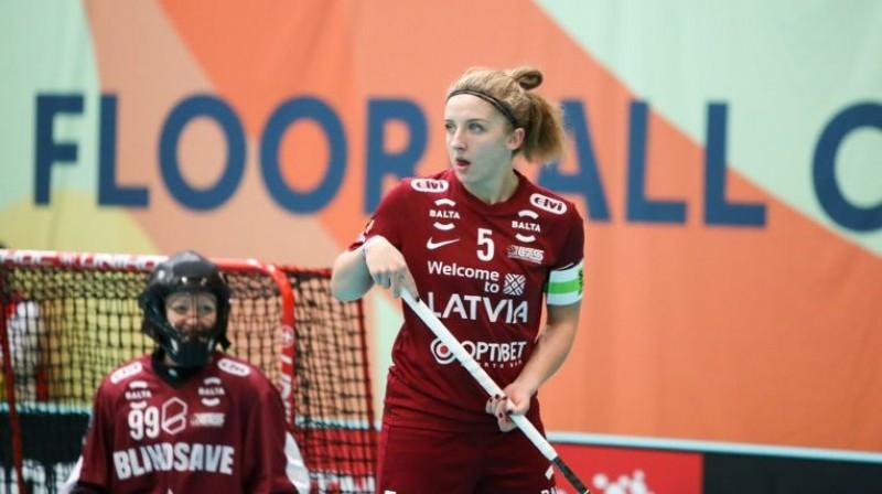 Latvijas izlases kapteine Elīza Elizabete Bērziņa Foto: Ritvars Raits, Floorball.lv