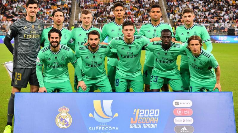 """Madrides """"Real"""" pirms pusfināla Saūda Arābijā. Foto: AFP/Scanpix"""