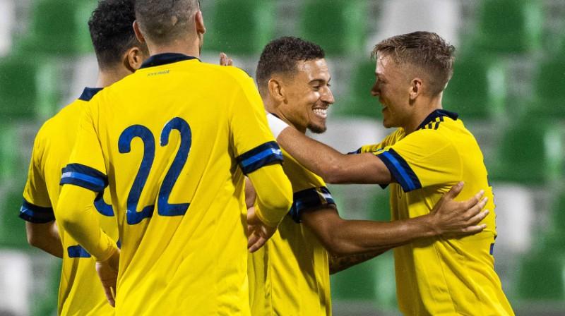 Zviedrijas izlases futbolisti. Foto: svenskfotboll.se