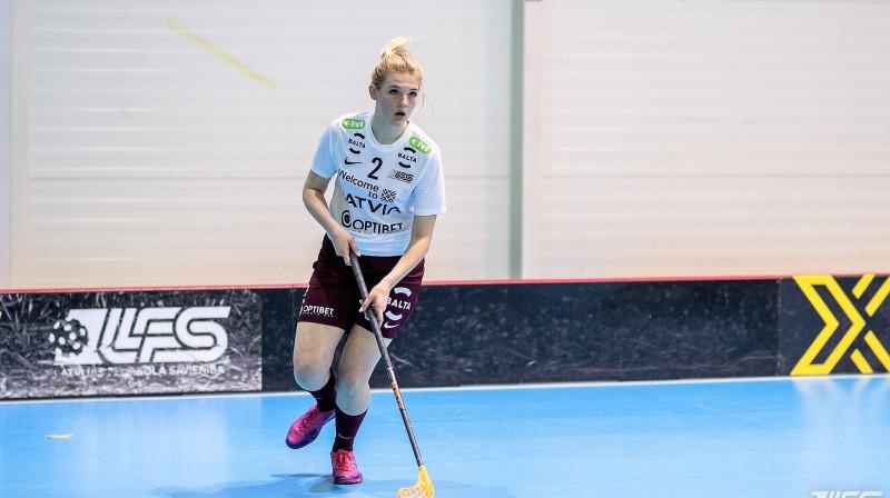 Daniela Dafne Hāne. Foto: Raivo Sarelainens, floorball.lv
