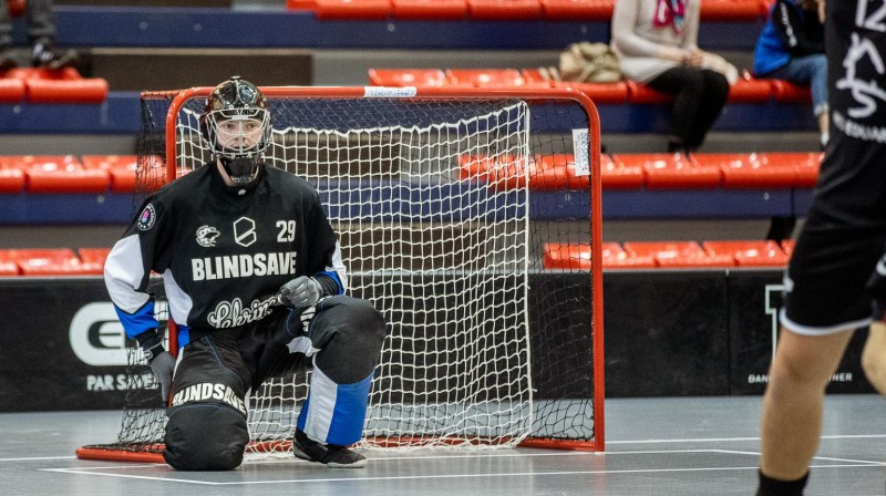 """Ričards Stivriņš sekmēja """"Lekrings"""" uzvaru Lielvārdē Foto: Floorball.lv"""