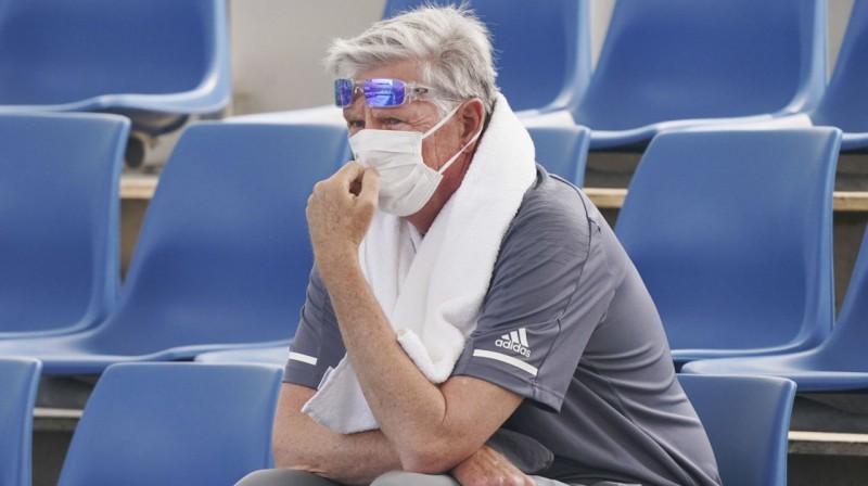 """Kāds skatītājs """"Australian Open"""" kvalifikācijā. Foto: AP / Scanpix"""
