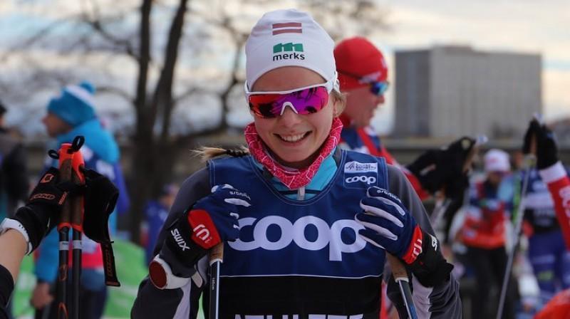 """P.Eidukai kārtējais sasniegums Latvijas slēpošanā. Foto: """"Team Eiduki""""."""