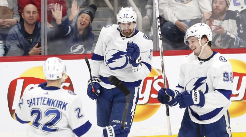 "Tampabejas ""Lightning"" hokejisti. Foto: James Carey Lauder/USA Today Sports/Scanpix"