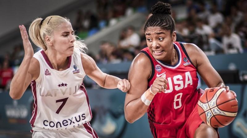 Morgana Taka 2018. gada 25. septembrī, Pasaules kausa spēlē pret Latviju. Foto: FIBA