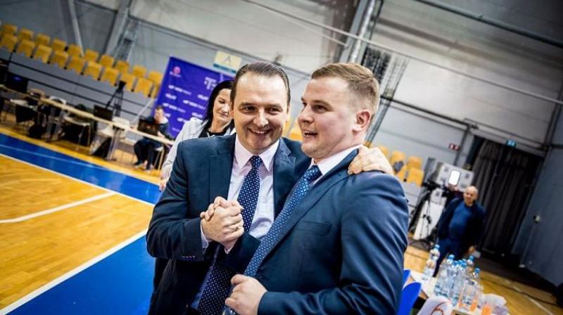 TTT treneri Mārtiņš Zībarts un Matīss Rožlapa. Foto: Renārs Koris