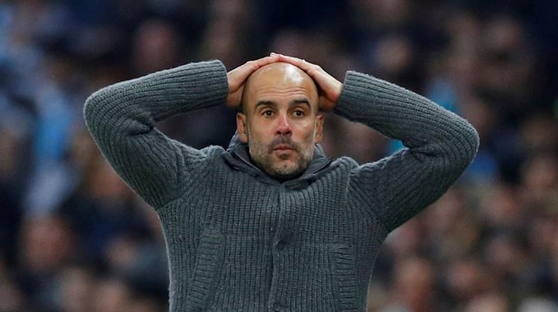 """Manchester City"" galvenais treneris Žuzeps Gvardiola. Foto: Reuters/Scanpix"