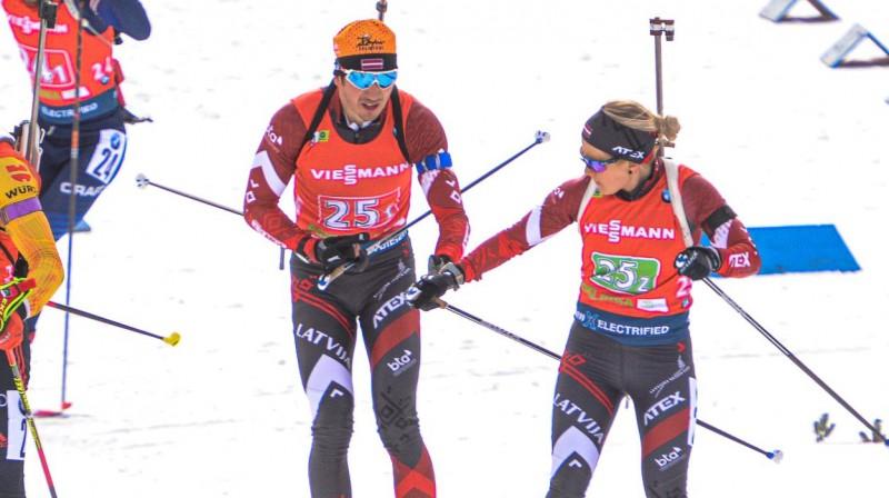 Andrejs Rastorgujevs un Baiba Bendika. Foto no Latvijas Biatlona federācijas Facebook profila