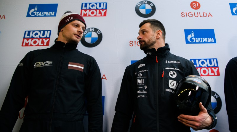Tomass un Martins Dukuri. Foto: Viesturs Lācis/bobslejs.lv