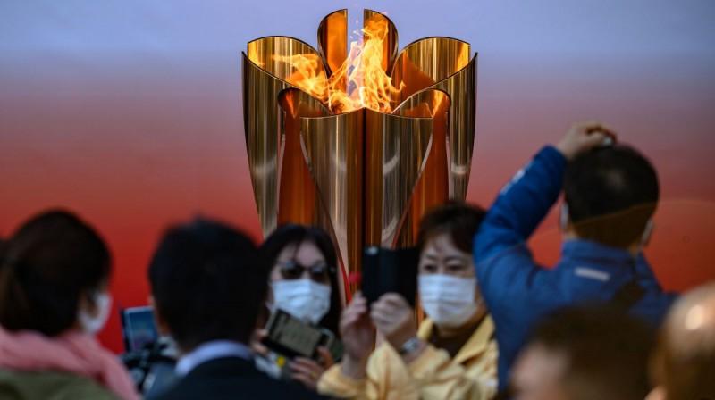 Olimpiskā uguns. Foto: AFP / Scanpix