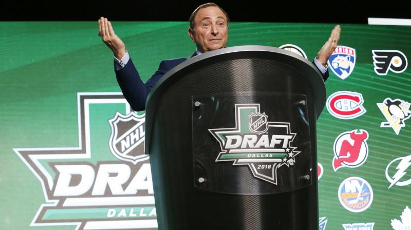 NHL komisārs Gerijs Betmens. Foto: Michael Ainsworth/AP/Scanpix