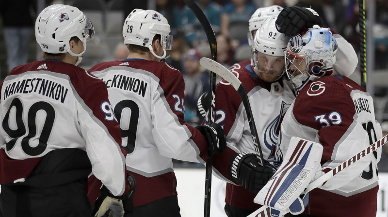"Kolorado ""Avalanche"" hokejisti. Foto: AP / Scanpix"