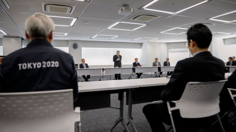 Darba grupa Japānā strādā pie plāna, kā pārcelt Tokijas olimpiskās spēles. Foto: Reuters/Scanpix