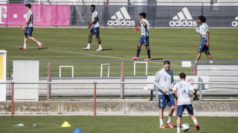 "Minhenes ""Bayern"" treniņš šodien. Foto: AP/Scanpix"