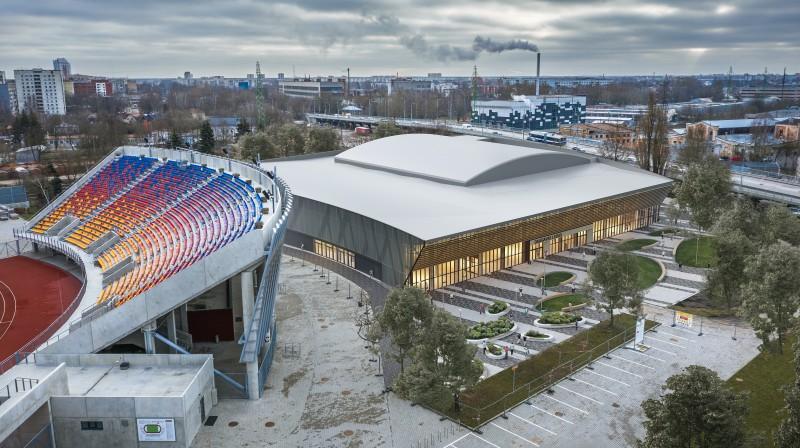 """""""Daugavas stadiona"""" ledus halles vizualizācija. Foto: SIA """"Ozola&Bula, arhitektu birojs""""/daugavasstadions.lv"""