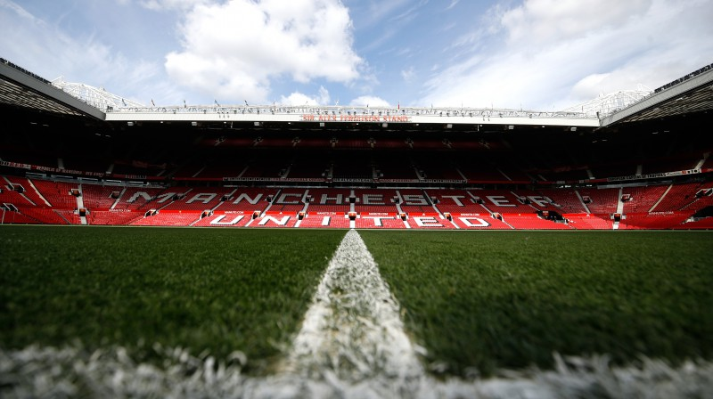 "Mančestras ""United"" ""Old Trafford"" stadions. Foto: Martin Rickett/PA/Scanpix"