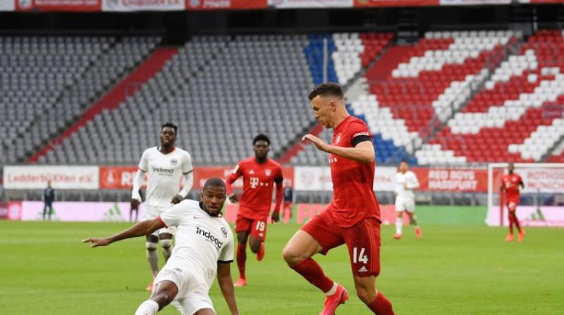 """Bayern"" un ""Eintracht"" spēle. Foto: AFP/Scanpix"