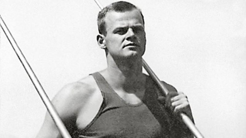 Latvijas sporta lepnums - Jānis Lūsis. Foto: muzejs.lv