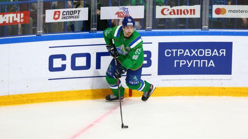"""""""Salavat Yulaev"""" uzbrucējs Sakari Manninens. Foto: hcsalavat.ru"""