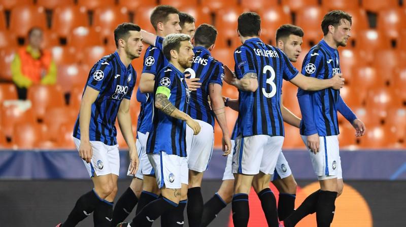 "Bergamo ""Atalanta"" Valensijā. Foto: Reuters/Scanpix"