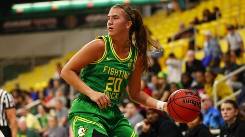 WNBA drafta pirmais numurs Sabrina Jonesku. Foto: AFP/Scanpix