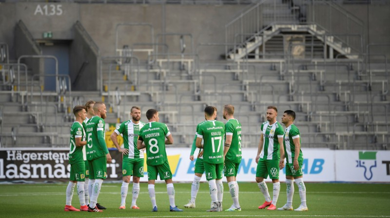 """Epizode no spēles Stokholmā starp """"Hammarby"""" un """"Ostersund"""". Foto: Reuters/Scanpix"""