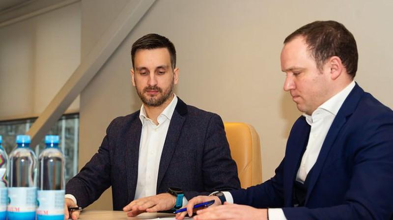 Edgars Pukinsks un Vadims Ļašenko. Foto: LFF