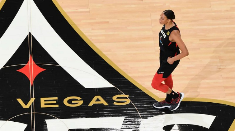 Elizabete Kembedža. Foto: Las Vegas Aces