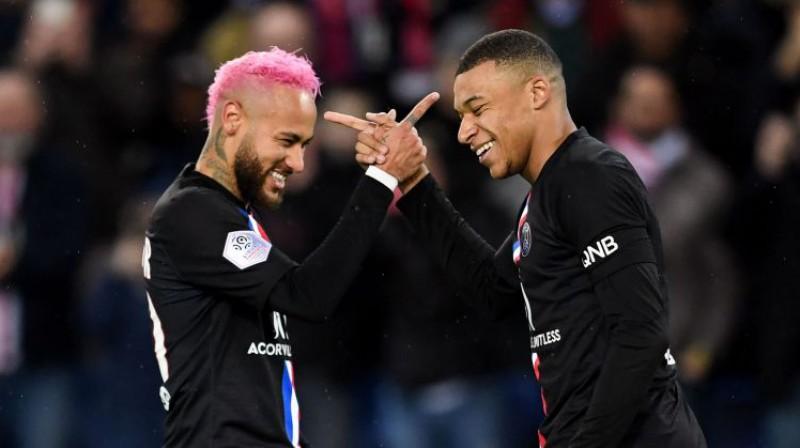 PSG zvaigznes Neimārs un Kilians Mbapē. Foto: AFP/Scanpix