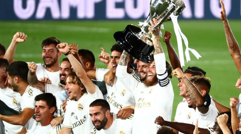 "Madrides ""Real"" - 2020. gada ""La Liga"" čempione. Foto: Reuters / Scanpix"