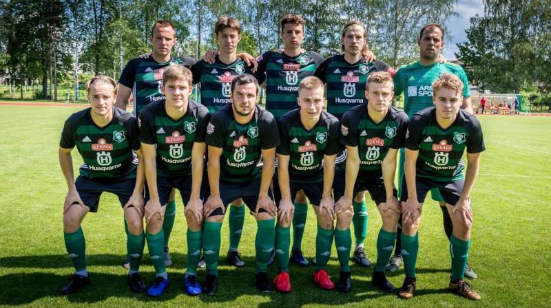 """""""Audas"""" futbolisti. Foto: FK Auda"""