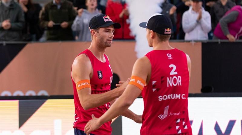 Anders Mols un Kristians Sērums. Foto: CEV