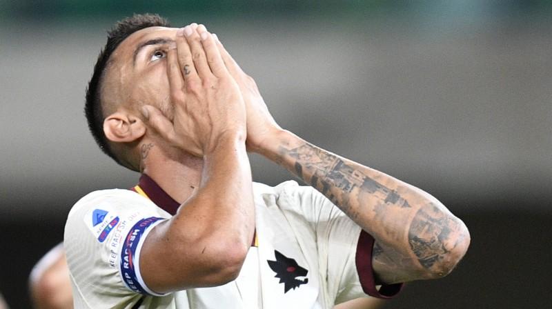 """Roma"" futbolists Lorenco Pellegrīni. Foto: Reuters/Scanpix"