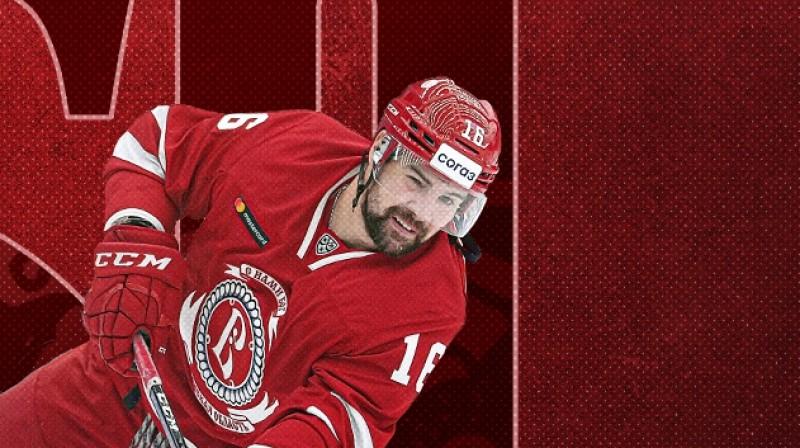 Kaspars Daugaviņš. Foto: hcvityaz.ru