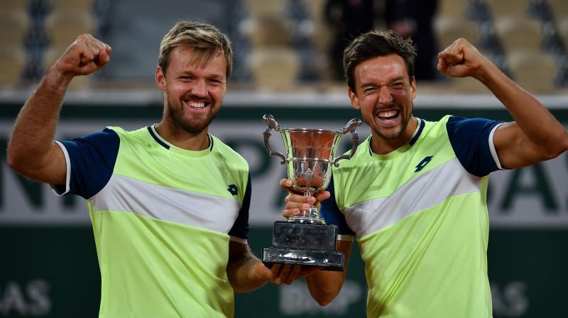 "Kevins Kravecs un Andreass Mīss: 12-0 bilance ""French Open"" karjerā. Foto: AFP/Scanpix"